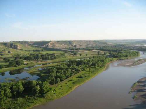View from a trestle bridge in Alberta
