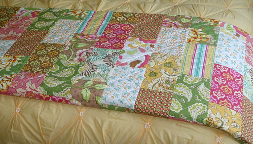 Brick Path Quilt Folded