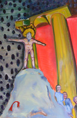 Clap your hands, Superman! (whalecrow) Tags: painting drawing contemporaryart figurative andyfoulds whalecrow tomdefreston