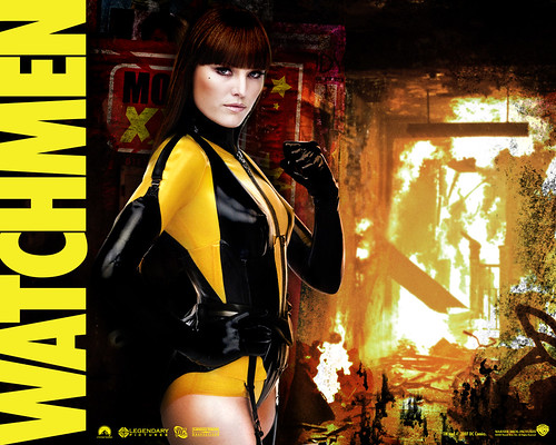 Silk Spectre (Watchmen, the movie ~ wallpaper)