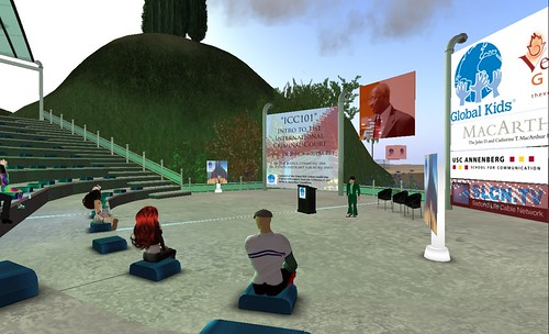Dr Francis Deng speaking at International Justice Center in Second Life