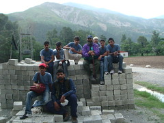 On the bricks (Ali Manzer) Tags: pakistan summer camp training relief welfare balakot alkhidmat akws