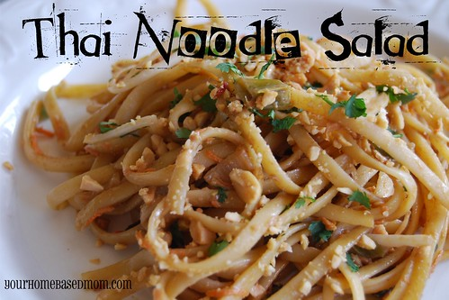 Friday Favorite - Thai Noodle Salad - your homebased mom