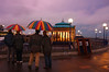 Sunday night rain (fast eddie 42) Tags: rain evening stripes band eastbourne tunes bandstand umbrellas brass atmospheric proms