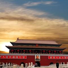 China - Chairman Mao (Heaven`s Gate (John)) Tags: china sunset portrait art square beijing games olympic forbiddencity achitecture chairmanmao maozedong tianamen 10faves 5photosaday johndalkin heavensgatejohn 5photsaday