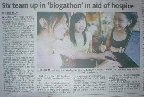Blogathon 2005 - The Star news clipping