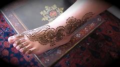 lupe's foot henna (HennaLounge) Tags: india floral arabic henna mehndi khalijee