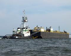 "Tugboat ""Potomac"" with Barge in New York Harbor, Staten Island NYC (jag9889) Tags: new york city nyc ny newyork work bay harbor boat ship maryland baltimore upper potomac tugboat tug statenisland 2008 barge vanik y2008 jag9889"