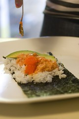 Topping with salmon roe