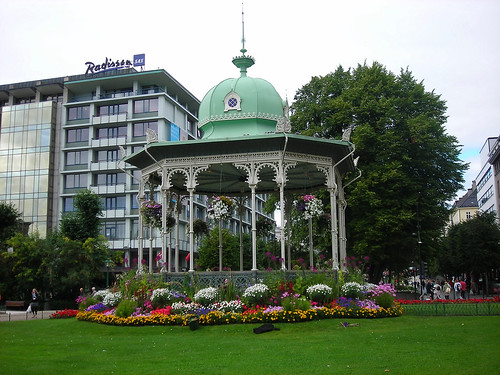 The gazebo at Ole Bull Plass