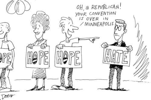 democrats and republican hate cartoon