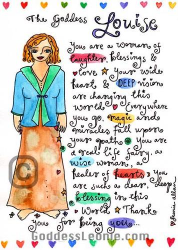 Goddess Louise: Custom Soul Story art