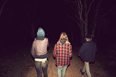 backs in black (coolhandluke) Tags: camping night forest dark walking hoodie flash longhair flannel copy ripoff deepcreek andydenzler andydenzlerripoff