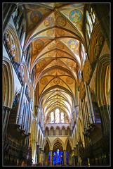The arches of Salisbury 2 (Megara Liancourt) Tags: light cathedral arches salisbury sonyalpha100 abigfave platinumphoto platinumheartaward theperfectphotographer