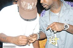 young buck and bg on stage