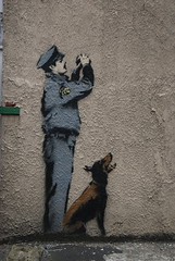 Art (cranjam) Tags: uk streetart london art graffiti banksy cctv londra policeman onenationundercctv robingunningham
