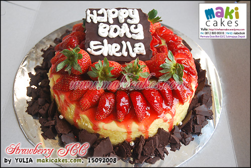 Strawberry JCC for mbak Shella - Maki Cakes