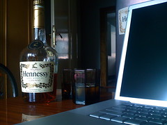 Hennessy in town (Miha Rebernik) Tags: hennessy macbookpro leethax