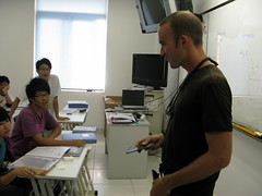Speaking with students at the Sino-Canadian high school in Luxu, Jiangsu Province, China