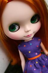more shots of trinity :) (cybermelli) Tags: new red orange love its true tangerine hair carved eyes mod doll lashes you sleep lips molly blythe mm dye takara nai dyed anai sbl scalp ilyit