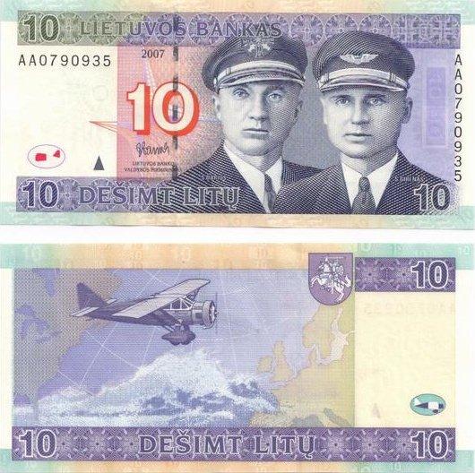 10 Litu Lithuania 2007