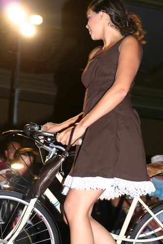 Pretty girl on bike