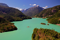 Glacial Runoff Waters of Diablo Lake (Fort Photo) Tags: blue summer vacation lake mountains nature water forest landscape outdoors washington nationalpark nikon searchthebest northwest nps turquoise reservoir cascades pacificnorthwest wa skagit 2008 pnw emerald bluegreen northcascades d300 skagitriver naturesfinest diablolake glacialwater specland specnature platinumphoto impressedbeauty rosslakenationalrecreationarea goldstaraward 2008reunionnature