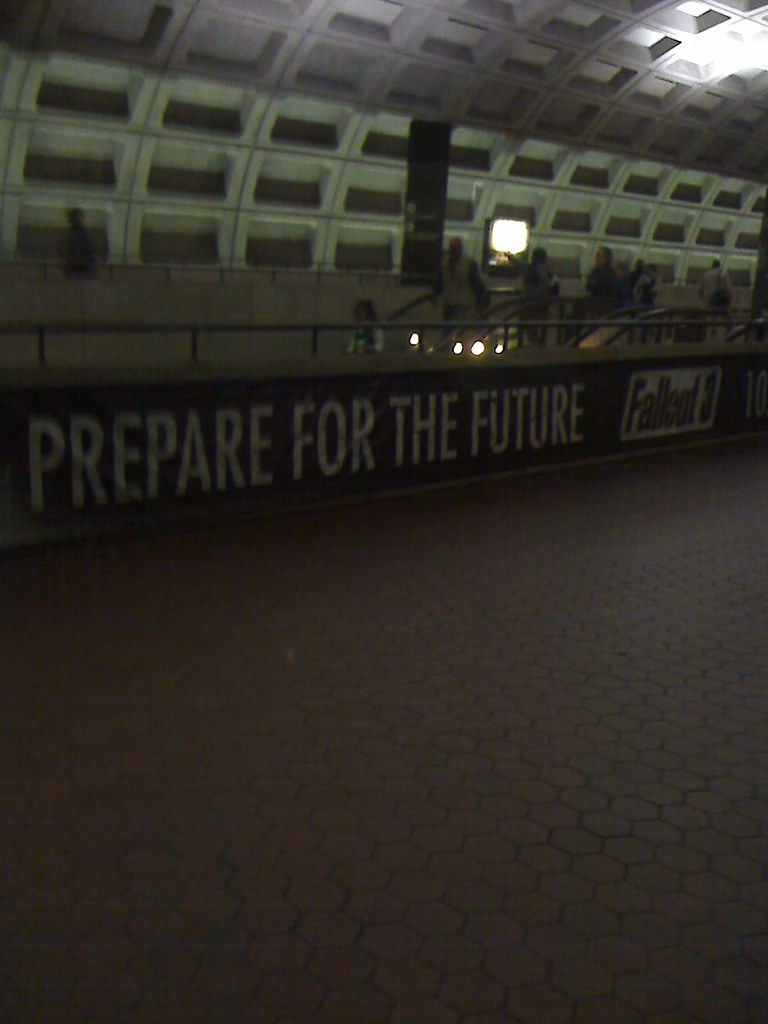 Fallout 3 advertising at Metro Center