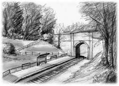 Artist's impression of Mountsorrel Halt