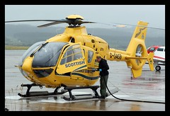 10 quids worth please! (prajpix) Tags: airport ambulance medical helicopter r sas emergency paramedic inverness hems eurocopter ec135 fuelling helimed dalcross