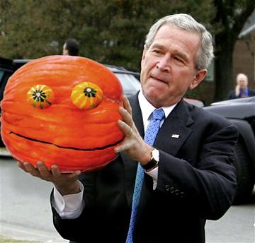 Rupert Pumpkin w. President George W Bush