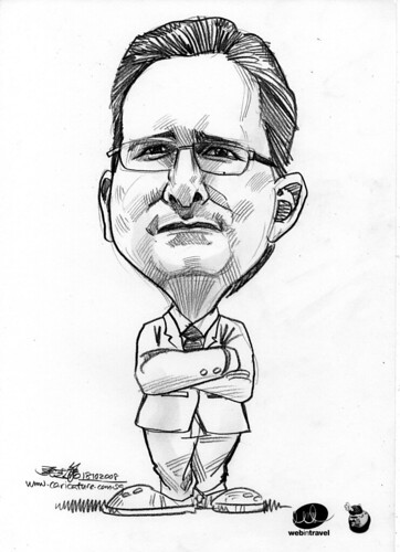 Caricatures Web in Travel 2008  Robert Bailey