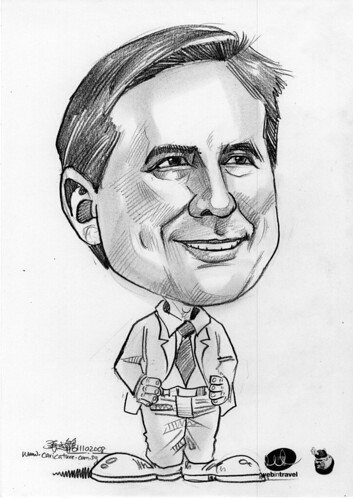Caricatures Web in Travel 2008 Scott Blume