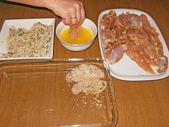 Pollo parmesano-paso 1