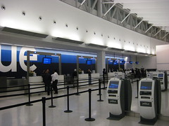 JetBlue check-in counter at JFK Terminal 5 (jetblueflickr) Tags: day 5 first terminal best jfk jetblue t5 terminal5 t6 b6 jetblueairways t508 t5opening t508wordpresscom