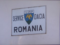 Dacia dealership 1993 Germany (sludgegulper) Tags: sign germany garage romania enamel dacia