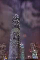 International Finance Centre in Hong Kong  (air maxx) Tags: china desktop city wallpaper people hk sun building tower clock japan night speed skyscraper cn canon out commerce shot market farm central chinese landmark center marketwatch hong kong international busy fans wallstreet economic  nba financial ifc  crisis hdr bail nasdaq tunami finance plunge dow    hsi dji subprime aplusphoto flickrlovers   financialtunami