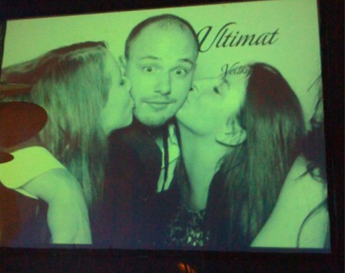 Alan Kropf and Ladies at Ultimat Vodka Launch Party