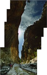 In the Abyss (flickrolf) Tags: trip travel light panorama house home me rock stone day fuji time pierre space pano hard away crete finepix gorge fels shape now miracles stein abyss schlucht lightscape samaria blueribbonwinner upandaway farfromhome kreata flickrdiamond onlythebestare flickrolf rubyphotographer vertipano flickrclassique