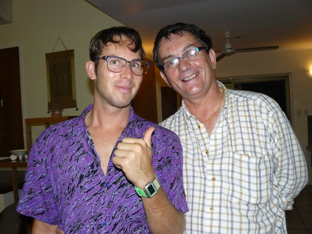 Hugh and Stephen                                    Son and father