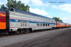 "Great Northern Railway No. 1391, ""Ocean View,"" Amtrak No. 10031, Minnesota, Minneapolis (32,091) (EC Leatherberry) Tags: railroad minnesota amtrak minnestoa empirebuilder loungecar greatnorthernrailway hennepincounty burlingtonnorthernrailroad northstarrail"