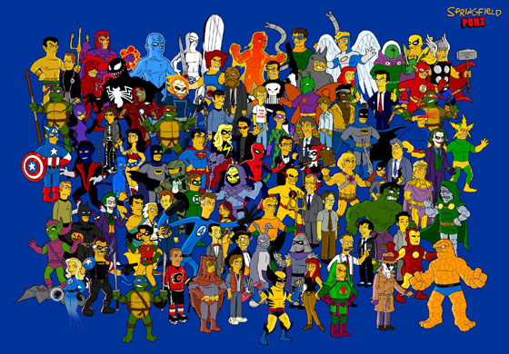 superheroes_simpsonizados