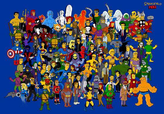 superheroes_simpsonizados