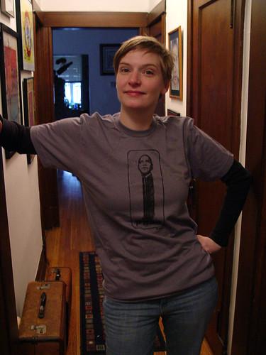 Erica's Prez shirt