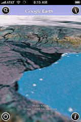 Flying Around Iceland on Google Earth in iPhone
