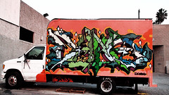 dame () Tags: street art truck project photography graffiti los lomo paint day angeles north it kings will angels hollywood western letter awr msk inri mad seventh rise piece dame bomb society retna tsl t7l dzame