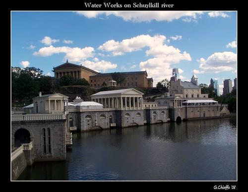 Waterworks on Schuylkill river