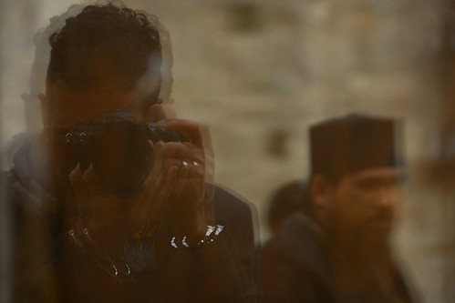 Reflex of me making photo in monastery