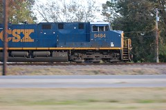 Pacing (Paul L. Nettles) Tags: railroad speed train highway diesel engine rail blurred trains rails pace locomotive pacing speeding railfan ironhorse darkblue csx dieselengine trainspotter railroading foamer speedblur csxt railspotter railhead es44dc gevo primemover darkfuture greentech steelrails steelrail trainfan trainfanning blurandblue bluelivery csx5484 csx5206