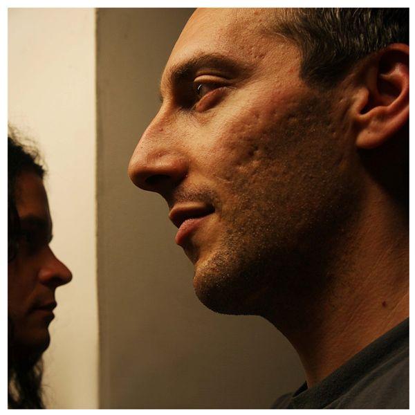 Steven O'Malley and Oren Ambarchi at the Bimhuis